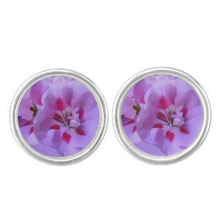 De violette Roze Abstracte Bloem van de Hibiscus Manchetknopen