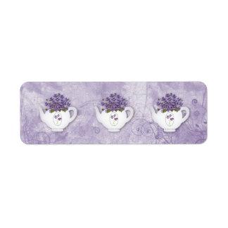 De violette Sticker van Theepotten