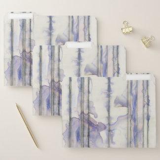 De violette Vrije Waterverf van de Uitdrukking Documentenmappen
