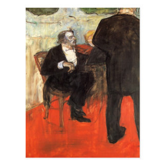 De violist Dancla door Toulouse-Lautrec Briefkaart
