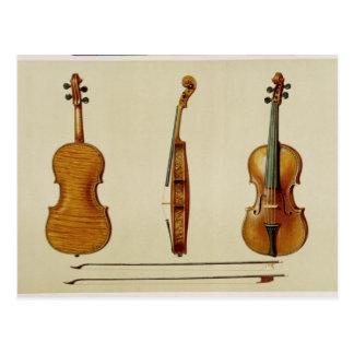 De viool Hellier door Antonio Stradivarius wordt Briefkaart