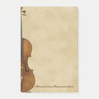 De viool op Perkament kijkt Klantgerichte Naam Post-it® Notes