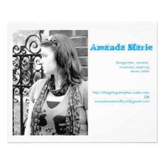 De visitekaartjes van Amanda Marie Flyer 11,4 X 14,2 Cm