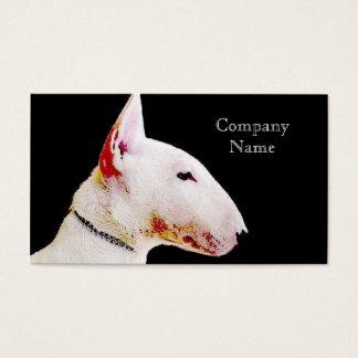 De visitekaartjes van bull terrier