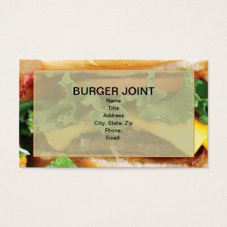 De Visitekaartjes van de cheeseburger