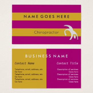 De Visitekaartjes van de Chiropracticus van