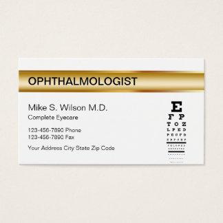 De Visitekaartjes van de oftalmoloog