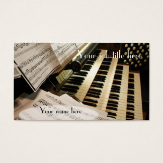De visitekaartjes van de organist