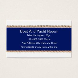 De Visitekaartjes van de Reparatie van de boot en