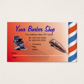 De Visitekaartjes van de Winkel van de kapper