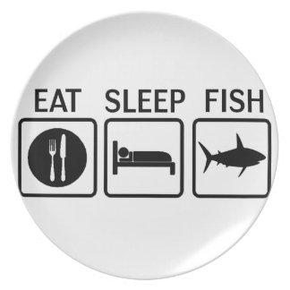 de vissen eten slaap party bord
