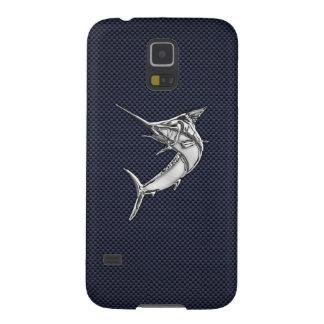 De Vissen van de Marlijn van het chroom op de Druk Galaxy S5 Hoesje