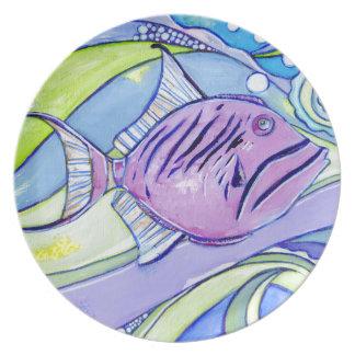 De Vissen van Surfin Melamine+bord