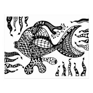 De Vissen van Zentangle Wenskaarten