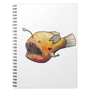 De vissenliefde van de visser notitieboek