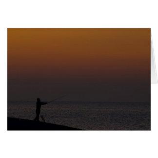 De Visser van de zonsopgang Wenskaart