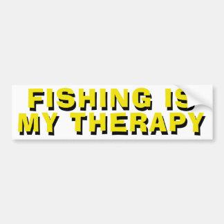De visserij is Mijn Therapie Bumpersticker