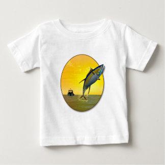 De Visserij van de sport in Dawn Baby T Shirts
