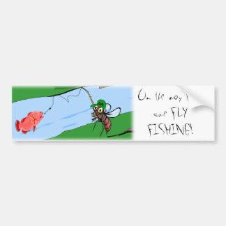 De Visserij van de vlieg Bumpersticker