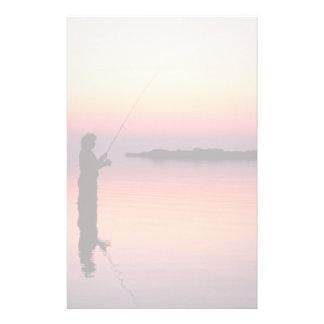 De visserijkantoorbehoeften van de zonsondergang briefpapier