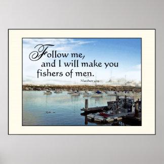 De Vissers van de Zeilboten van de haven van de Dr Poster