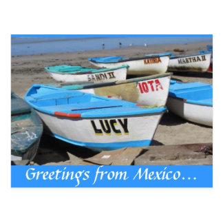 De Vissersboten van Mazatlan Briefkaart