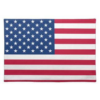 De vlag de Amerikaanse V.S. van Amerika Placemat