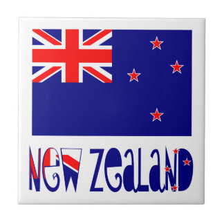 De Vlag & de Naam van Nieuw Zeeland Tegeltje