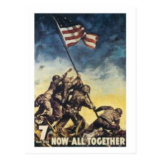 De vlag die van Jima van Iwo de grafische Briefkaart