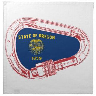 De Vlag die van Oregon Carabiner beklimmen Servet