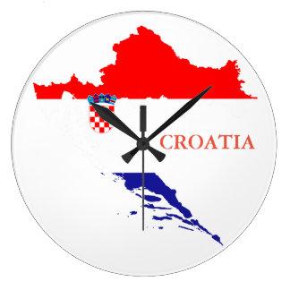 De vlag en de kaart van Kroatië Grote Klok