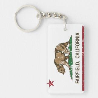 De Vlag Fairfield van de Staat van Californië Sleutelhanger