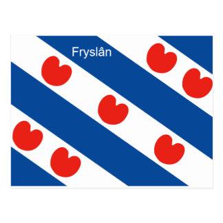De vlag Friesland Holland van Frisian Briefkaart