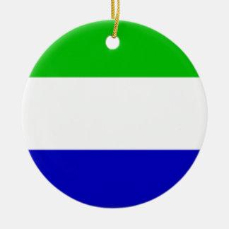 De Vlag Galápagos van Eilanden (Ecuador) Rond Keramisch Ornament