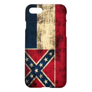 De Vlag Grunge van de Mississippi iPhone 7 Hoesje
