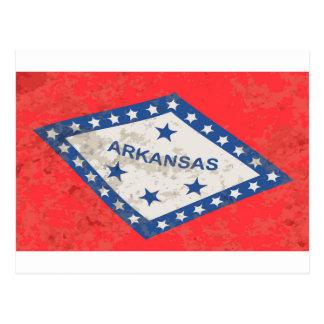 De Vlag Grunge van de Staat van Arkansas Briefkaart