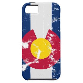 De Vlag Grunge van de Staat van Colorado Tough iPhone 5 Hoesje