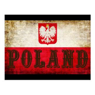 De Vlag Grunge van Polen Briefkaart