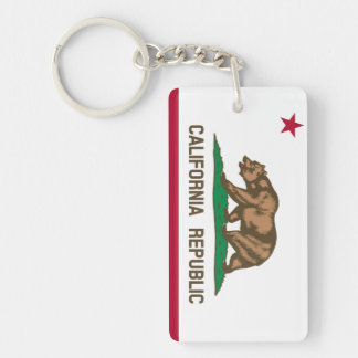 De Vlag Keychain van de Staat van Californië Sleutelhanger