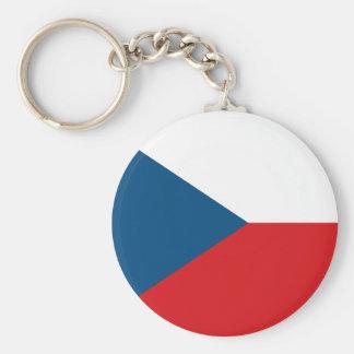 De Vlag Keychain van de Tsjechische Republiek Sleutelhanger
