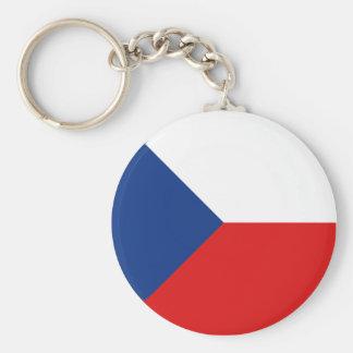 De Vlag Keychain van Fisheye van Czechia Sleutelhanger