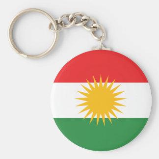 De Vlag Keychain van Koerdistan Basic Ronde Button Sleutelhanger