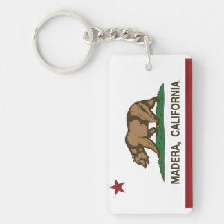De Vlag Madera van de Staat van Californië Sleutelhanger