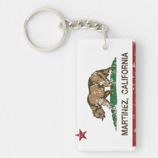 De Vlag Martinez van de Staat van Californië Sleutelhanger