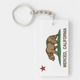 De Vlag Merced van de Staat van Californië Sleutelhanger