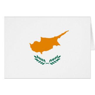 De Vlag Notecard van Cyprus Notitiekaart