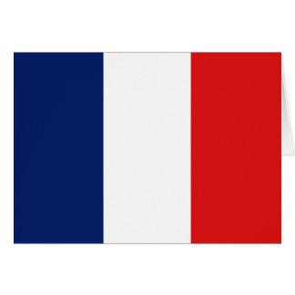 De Vlag Notecard van Frankrijk Notitiekaart