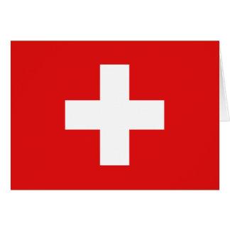 De Vlag Notecard van Zwitserland Notitiekaart