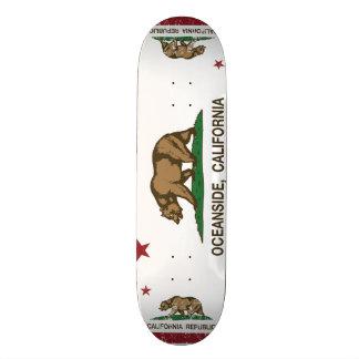 De Vlag Oceanside van de Staat van Californië Skateboard