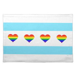 De Vlag Placemat van de Harten van de Regenboog